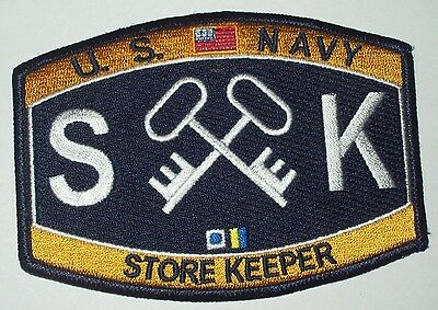 united states navy store keeper ratings patch sk military patch