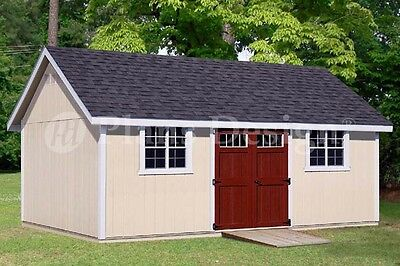Backyard Storage Shed Plans 14 X 24 Gable Roof D1424g