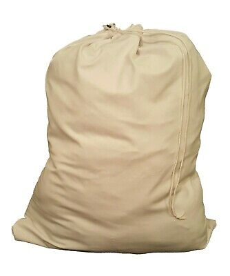 ***WHITE HEAVY DUTY 30x40 CANVAS STYLE LAUNDRY BAG - MADE IN USA***