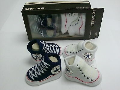 Converse Crib Knitted Bootie Uk Babies Sizes 0-6 Months  ( Two Pair Pack )