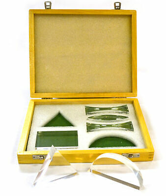 Advanced Acrylic Prism and Lens Set in Wooden Case (Set of 6)