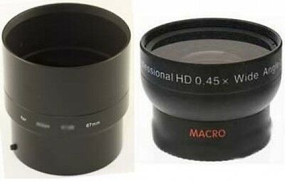 Wide Angle Lens + Tube Adapter bundle for Kodak EasyShare Z990 Digital Camera