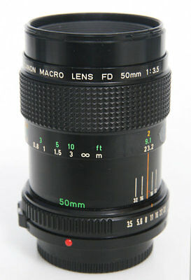 Canon FD Macro Lens 50mm f3.5 with fd-25 extension tube 1:1 life size