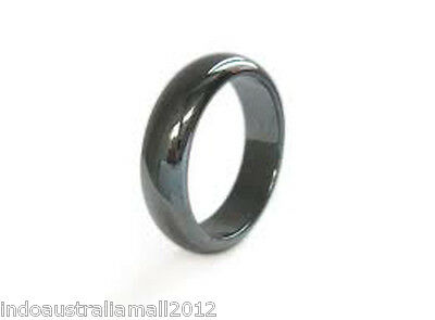 2 X Magnetic Hematite Plain Ring 20 mm Dia Arthritic Pain and Blood Pressure EB