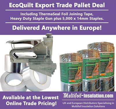 EcoQuilt Expert Multifoil Insulation DIY Trade Kit Pallet Delivered Anywhere