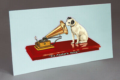 2 Hmv His Master's Voice  Water Slide Decal Motor Case Phonograph, Gramophone