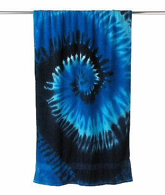 "NEW TIE DYE 100% COTTON BEACH TOWEL 30"" x 60"" RAINBOW OR CYCLONE COLORS"