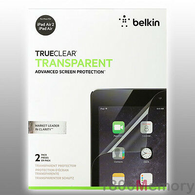 BELKIN TrueClear Transparent Clear Screen Protector 2Pk for Apple iPad Air 2 9.7