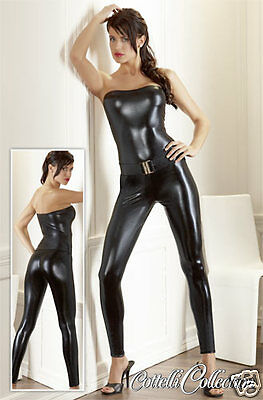 Overall Wetlook Glanz Catsuit Tube