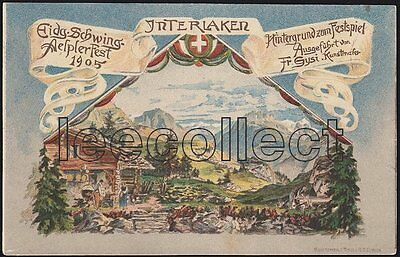 BE Interlaken - Schwingen - Ringen - Sport - Litho