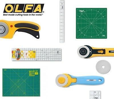 OLFA Rotary Cutters, Matts, Frosted NON SLIP Quilting Patchwork Ruler Squares