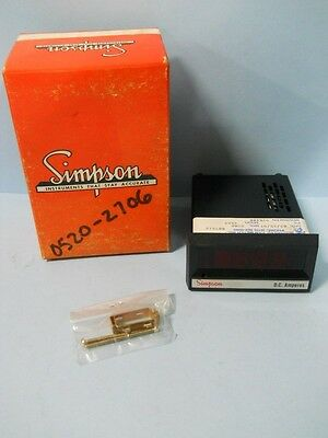 Simpson 92K400 Model Number 2865 Digital Panel Meter, Nib