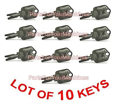 Lot Of 10, Keys For Ignition Switch, Forklifts, Yale, Daewoo, Clark, Hyster