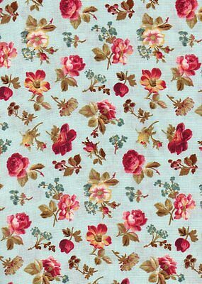 Lakehouse Dry Goods Fabric~PENELOPE~1 YD~Quilt Fabric~Small Floral~Marine~