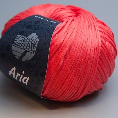 Lana Grossa Aria 019 coral 50g Wolle (8.50 EUR pro 100 g)