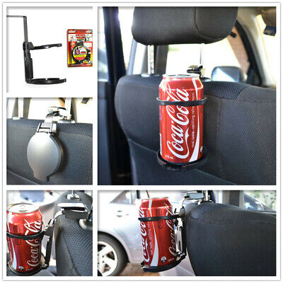 2 x Car Drink Holder Foldable Cup Water Bottle Back Seat Holders Universal Hook