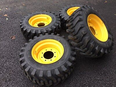 4 NEW Camso 12X16.5 Tires & Rims for New Holland, John Deere, Gehl, Mustang