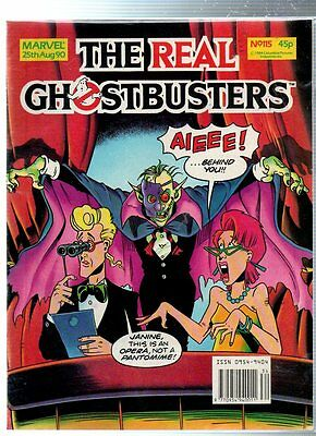 Marvel The Real GHOSTBUSTERS Comic - 25 August 1990, No.115