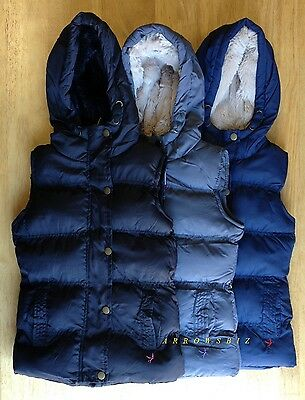 Girls Puffa Padded Quilted Gillet Jacket Body Warmer Full & Sleeveless Hoodies