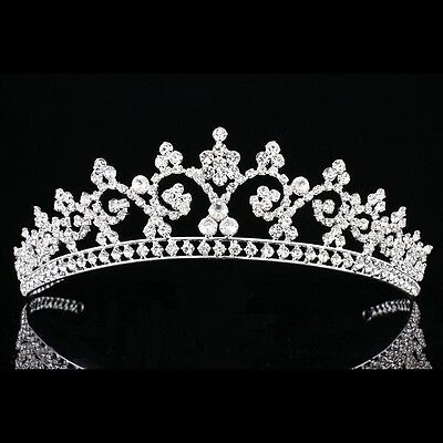 Bridal Pageant Rhinestone Crystal Prom Wedding Crown Tiara 7910