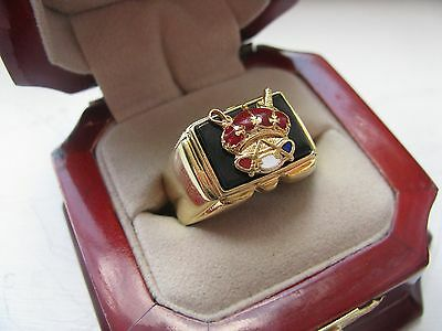 NEW! Heavy Gents Odd Fellows Patriarchs Militant CREST Ring *