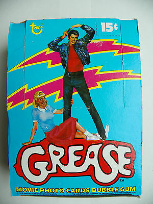 Vintage Full Box Of Grease Movie Series 1 Photo Cards 36 Packs-New Sealed 1978