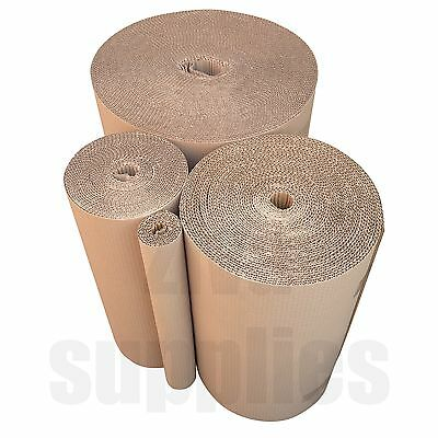 """600 mm /24"""" Wide CORRUGATED CARDBOARD Strong Kraft Brown Paper Rolls for Packing"""
