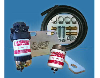 Water Separator Filter Kit Fuel Manager FM615DPK suits Toyota LC 200 & 70 Diesel