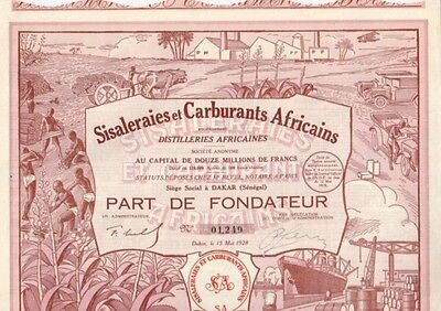 Sisaleraies et Carburants Africains Distilleries  1928  Dakar  Hochdeko