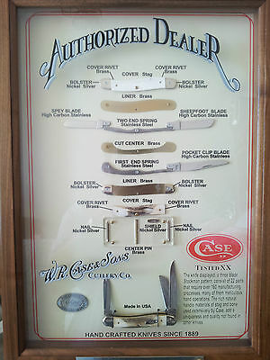 RARE W R CASE & SONS AUTHORIZED 2000 CASE XX DEALER WALL DISPLAY CASE W/CERTIFIC
