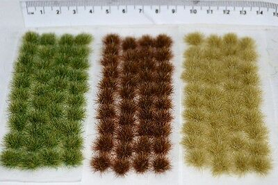 Large Static Grass tufts - Self Adhesive basing wargame miniature models Rail
