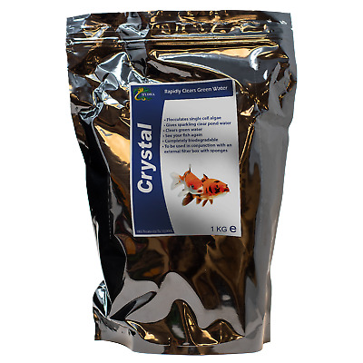 Koi Fish Pond Algae Green Cloudy Water Treatment HYDRA CRYSTAL Clear Pond Water