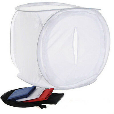 NEW Professional Pop Up Light Cube/Tent Photo Studio Box 80 x 80 x 80cm. White