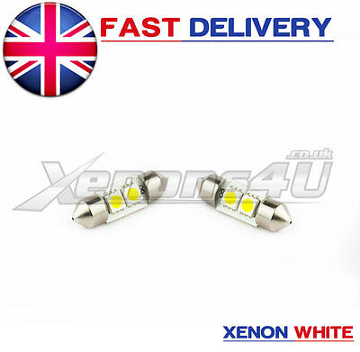 2x 3-SMD LED 31mm TOYOTA HONDA CIVIC SHOGAN PAJERO SWB INTERIOR LIGHT BULB 269