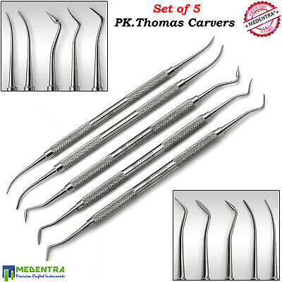Dental PK THOMAS CARVERS KIT of 5 Lab Technician Carving Tools Wax and Modelling