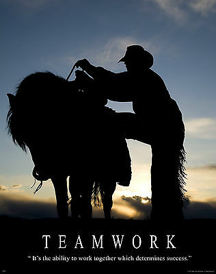 Horse Motivational Poster Art Western Rodeo Cowboy Rodeo Saddle Spurs RELG17