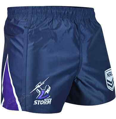 NRL Melbourne Storm Footy Shorts Adults and Kids Sizes BNWT S-4XL & 6-14
