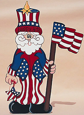 Uncle Sam 4th of July  Wooden  Yard Decoration