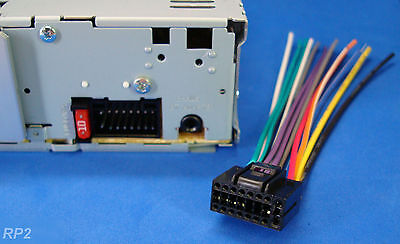 kenwood wire wiring harness 16 pin cd radio stereo 4 46 picclick rh picclick com Kenwood Car CD Player Wiring Kenwood Wiring Color Codes