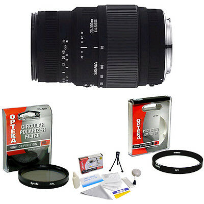 Sigma 70-300mm f/4-5.6 DG Macro Zoom Lens with UV & CPL Filters & More for Canon