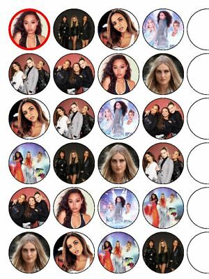 """24 x Little mix 1.5"""" PRE-CUT Edible Cupcake / Cake Toppers"""