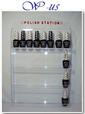 Nail Polish Wall Rack Display Acrylic hold up 32 bottles ( With header design )