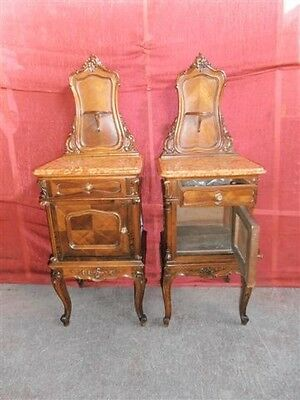 Italian Antique Marble Top Bedroom Set Night Stands - 13It018C