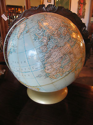 "Vintage Rand McNally 12"" Diameter Political Globe on Metal Stand"