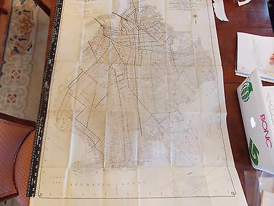 RARE 1920 30x39 Brooklyn NYC New York City subway New York City Trolley MAP