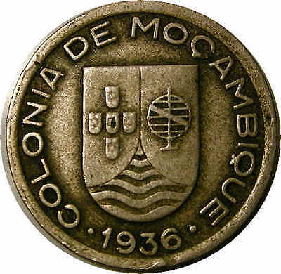 1936 Mozambique 50 Cents XF TOUGH! INV#95-70