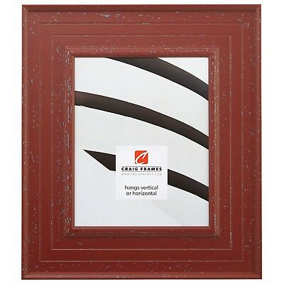 "Craig Frames Cottage, 3"" Red Wood Picture Frame"