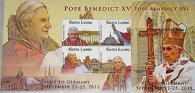 SIERRA LEONE 2012 Pope Benedict Visit to Germany Besuch Papst Benedikt MNH