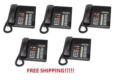 Nortel Norstar Meridian M7208 Black Phone NT8B30 Qty of 5 Phones FREE SHIPPING