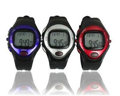 New Pulse Heart Rate Monitor Calorie Counter Sport Running Stop Fitness Watch